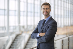Successful Young Executive In Modern City Office Building royalty free stock image