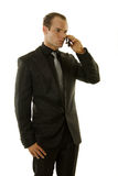Successful young businessman talking on the phone Stock Photography
