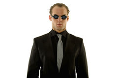 Successful young businessman wearing goggles Royalty Free Stock Images