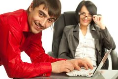 Successful young businesspeople Stock Photo