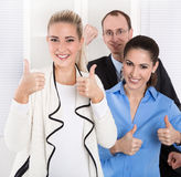 Successful young businesspeople - good cooperation. Stock Photo