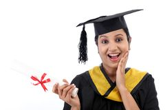Successful young female graduate Royalty Free Stock Photography