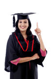 Successful young female graduate Stock Images
