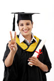 Successful young female graduate Royalty Free Stock Photo