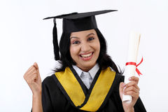 Successful young female graduate Royalty Free Stock Photos