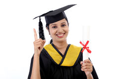 Successful young female graduate Stock Image
