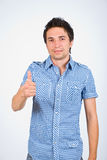 Successful young man stock image
