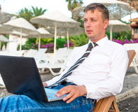 Successful young man working Royalty Free Stock Photography