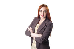 Successful young redhead business woman Stock Photo