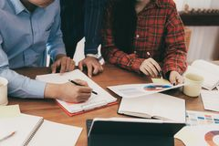 Successful young startup business teamwork stock photos