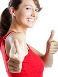 Successful young woman Stock Photo