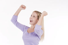 Successful young woman Royalty Free Stock Images