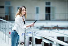 Successful young woman Stock Photography