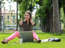 Successful Young Woman Royalty Free Stock Image