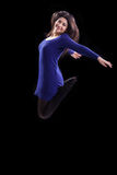 Successful  Young Woman Jumping Up Royalty Free Stock Images