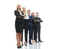 Successfull busines team isolated on white background. Team of successful and confident people posing on a white background Stock Photo