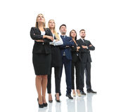 Successfull busines team isolated on white background. Team of successful and confident people posing on a white background Royalty Free Stock Image