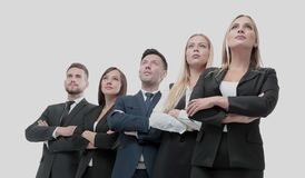 Successfull busines team isolated on white background. Team of successful and confident people posing on a white background Stock Images