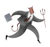 Successfull devil businessman Royalty Free Stock Photo