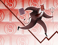 Successfull devil businessman Stock Image