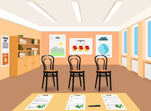 Successfully completed exams. Vector Illustration Royalty Free Stock Photo