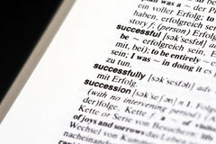 Successfully in dictionary Royalty Free Stock Image
