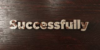 Successfully - grungy wooden headline on Maple  - 3D rendered royalty free stock image. This image can be used for an online website banner ad or a print Stock Photography