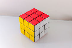 Successfully Solved Rubiks Cube Stock Image