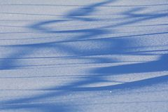 Abstract lines in snow Royalty Free Stock Photo