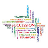 Succession. Concept and other related words Royalty Free Stock Image