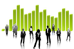 Succession. The group of Successful business people Stock Photo