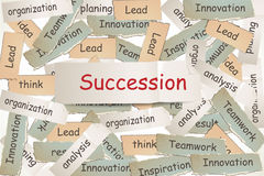 Succession on the paper Royalty Free Stock Image