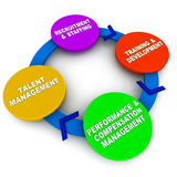 Succession planning. Process, from recruitment to training to compensation ending with talent acquisition Stock Photo