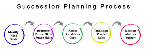 Succession Planning Process. Diagram of Succession Planning Process stock image