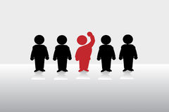 Succession. The red man is the successful businessman Stock Images