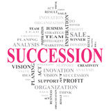 SUCCESSION WORD Stock Images