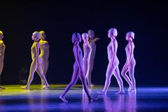 Successivement ` de danse du ` s de droit-Huang Mingliang aucun ` d'abri Image libre de droits