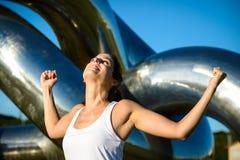 Successo all'aperto di allenamento di forma fisica Fotografie Stock Libere da Diritti