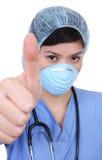 Successo asiatico dell'infermiera fotografia stock libera da diritti