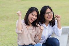Successo asiatico delle donne fotografie stock