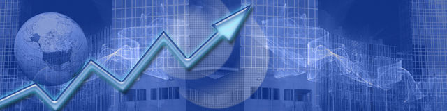 Successo aumentante di affari del ww dell'intestazione Immagini Stock