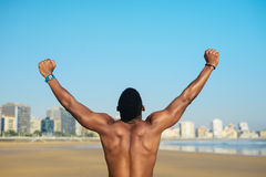 Successo corrente di allenamento dell'atleta Fotografia Stock