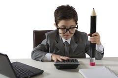 Successo de um homem de negócios novo Imagem de Stock Royalty Free
