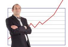 Successo del diagramma dell'uomo d'affari Immagini Stock Libere da Diritti