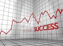 Successo del grafico dell'equilibrio Immagini Stock
