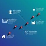 Successo del grafico di affari, illustrazione ENV 10 Immagini Stock Libere da Diritti