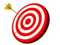 Successo dell'obiettivo del Bullseye Fotografia Stock