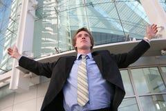 Successo dell'uomo di affari Immagine Stock