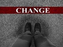 Successo di affari con cambiamento Immagini Stock Libere da Diritti