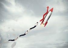 Successo di affari di decollo rappresentazione 3d Fotografia Stock Libera da Diritti